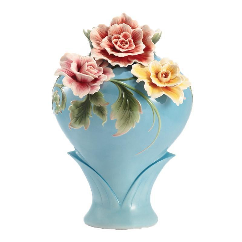 Franz Collection Flourishing Prosperity Cotton Rose Large Vase FZ02925