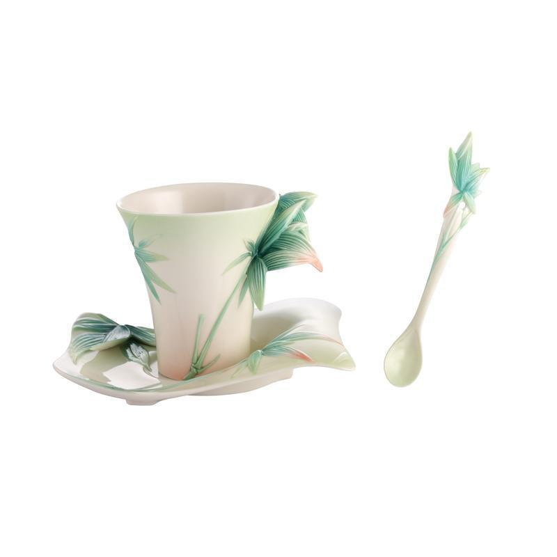 Franz Collection Four Seasons Bamboo Teacup, Spoon, Saucer FZ02923