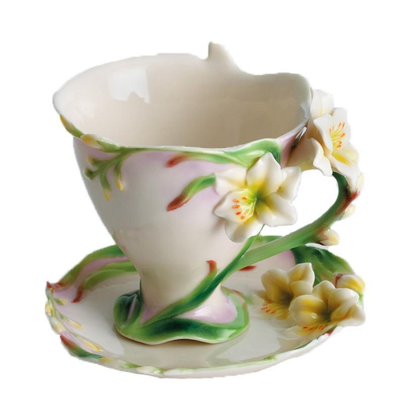 Franz Collection Freesia Cup & Saucer FZ00460
