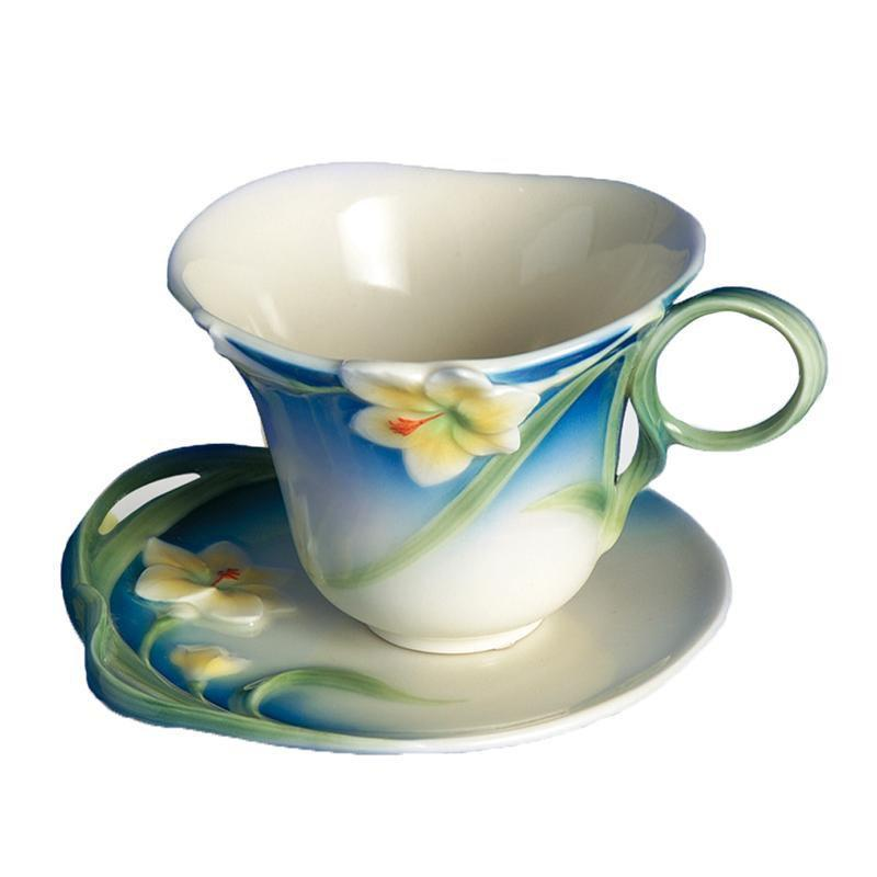 Franz Collection Freesia Spring Cup & Saucer FZ00030