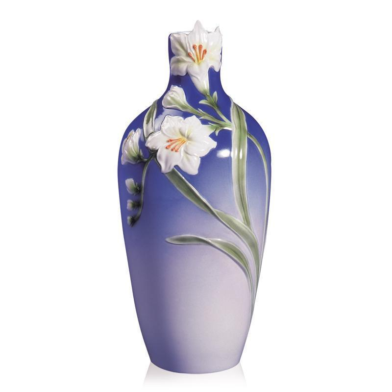 Franz Collection Freesia White Vase XP1814