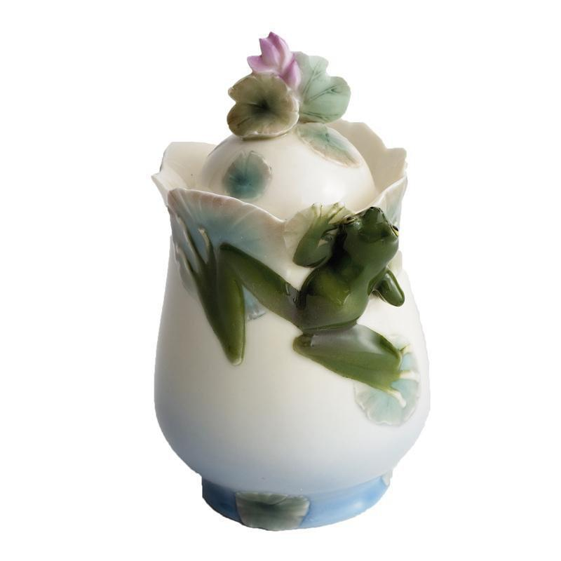 Franz Collection Frog Design Sugar Jar FZ00174