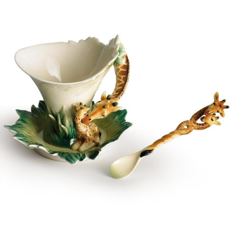 Franz Collection Giraffe Endless Beauty Teacup, Saucer, Spoon FZ00450