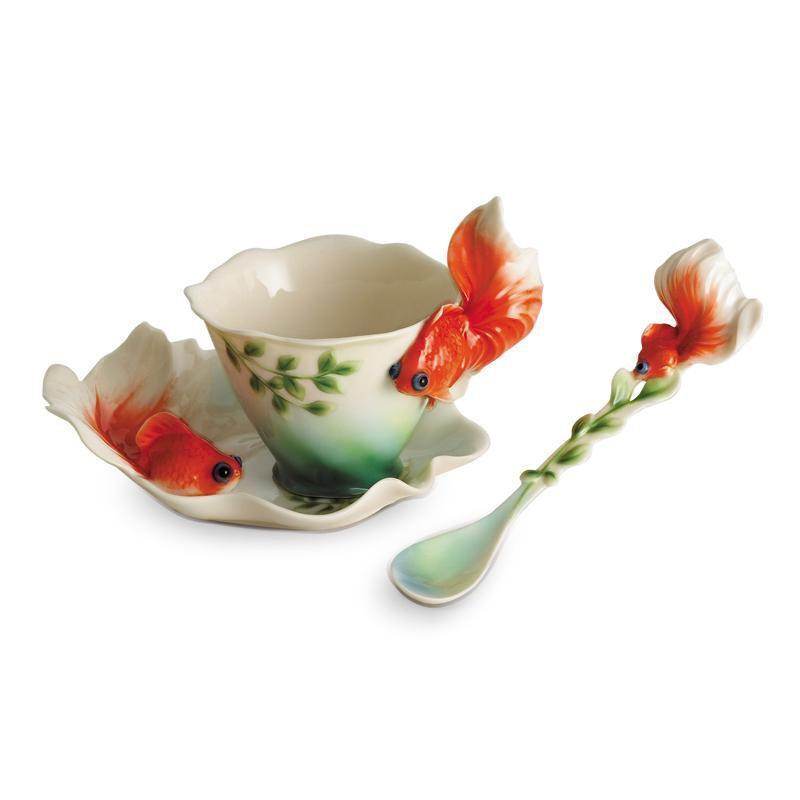 Franz Collection Goldfish Teacup & Saucer FZ00426