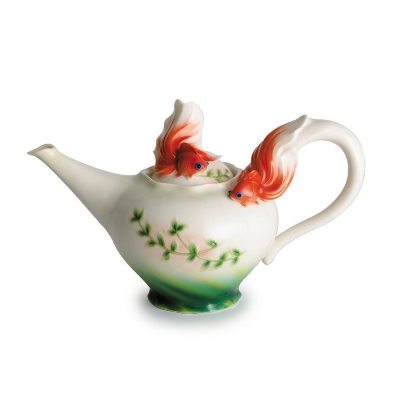 Franz Collection Goldfish Teapot FZ00442