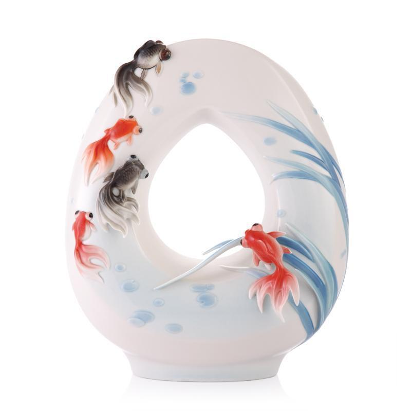 Franz Collection Goldfish Vase FZ03350