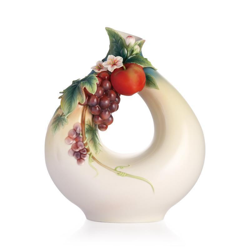 Franz Collection Good Harvest Grape & Apple Vase FZ02861