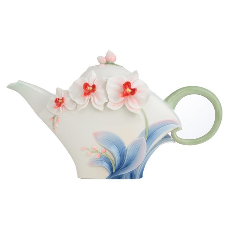 Franz Collection Graceful Orchid Teapot FZ02690