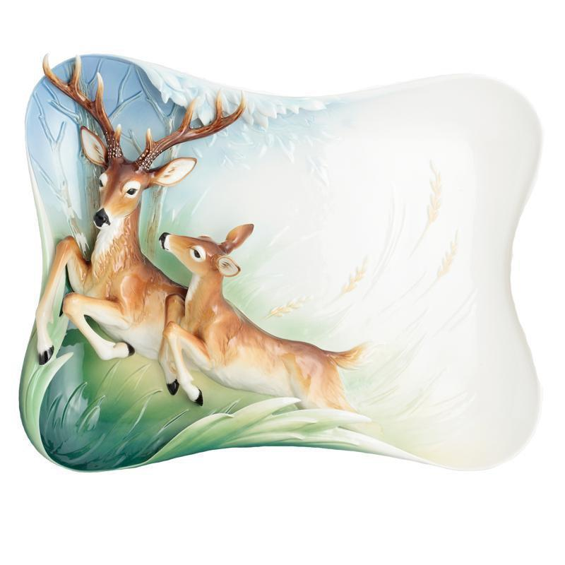 Franz Collection Graceful Woodland Deer Tray & Easel FZ02878