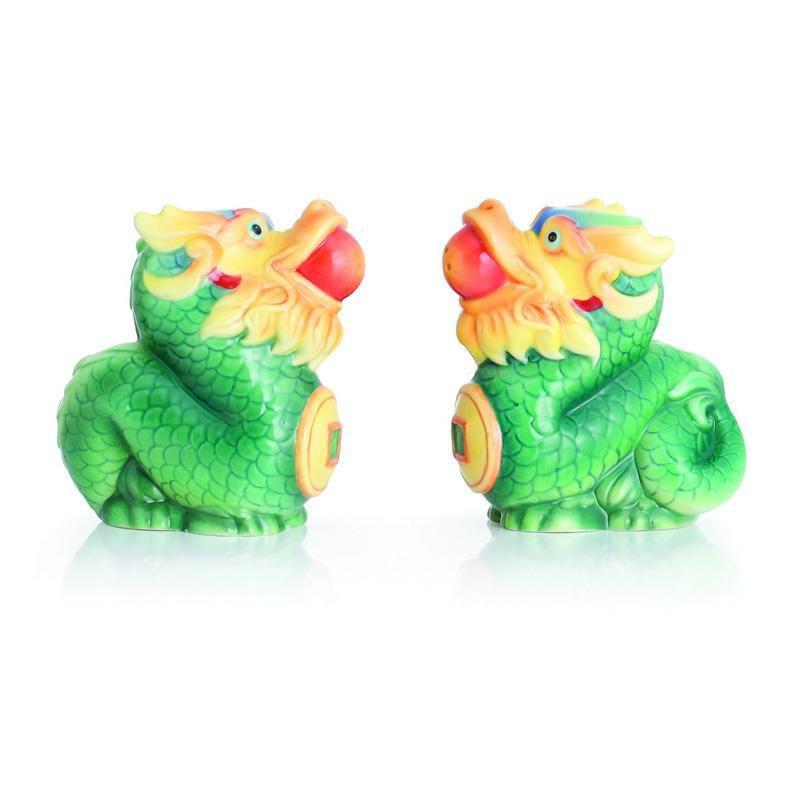 Franz Collection Green Dragon Salt & Pepper Set FZ02821