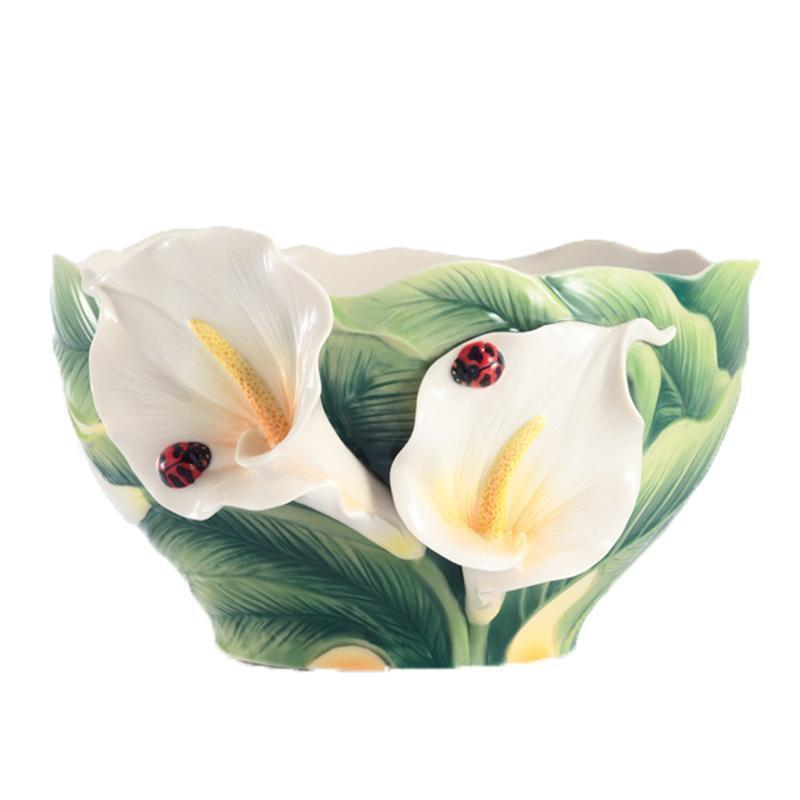 Franz Collection Happy Reunion Calla Lily Salad Bowl FZ03007