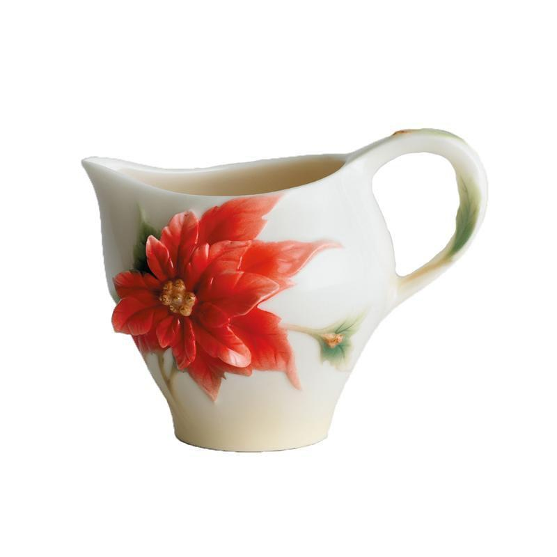 Franz Collection Holiday Classic Poinsettia Creamer FZ00891