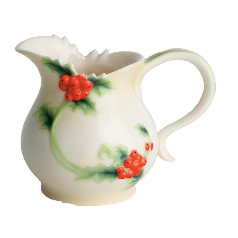 Franz Collection Holly Berries Creamer FZ00395