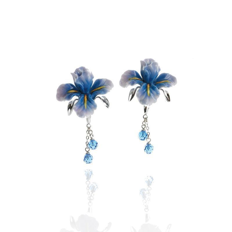 Franz Collection Hummingbird Flower Earrings FJ00103