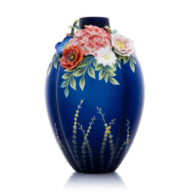Franz Collection Hydrangea Rose Daisy Poppy Vase FZ03607