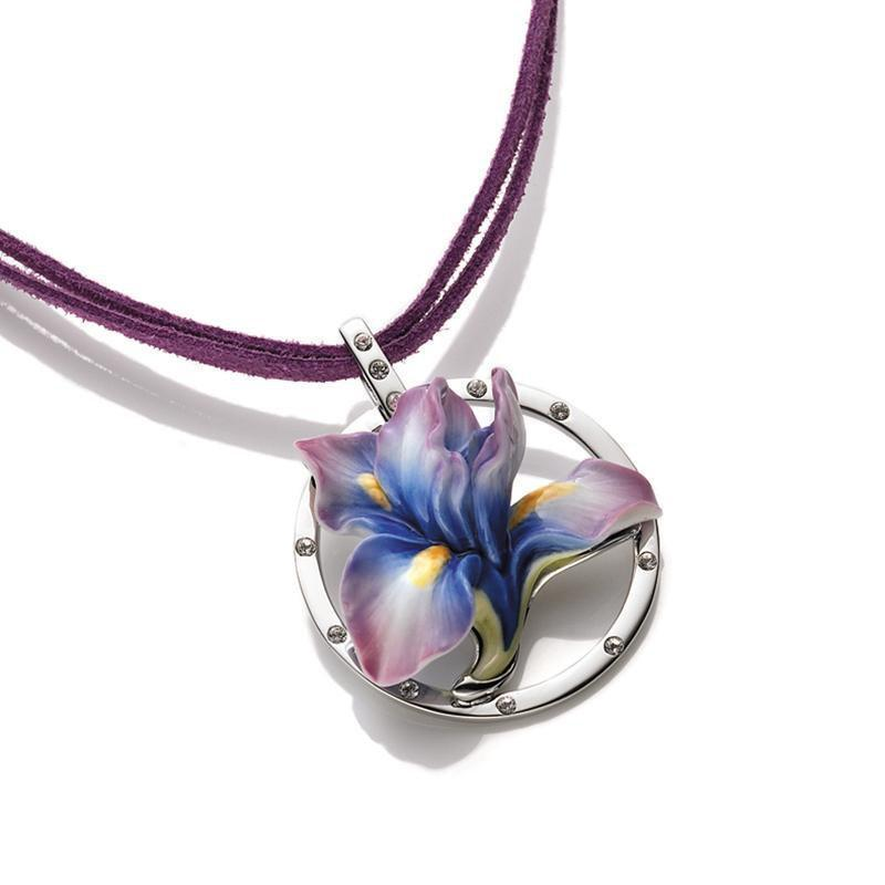 Franz Collection Iris Flower Necklace FJ00186