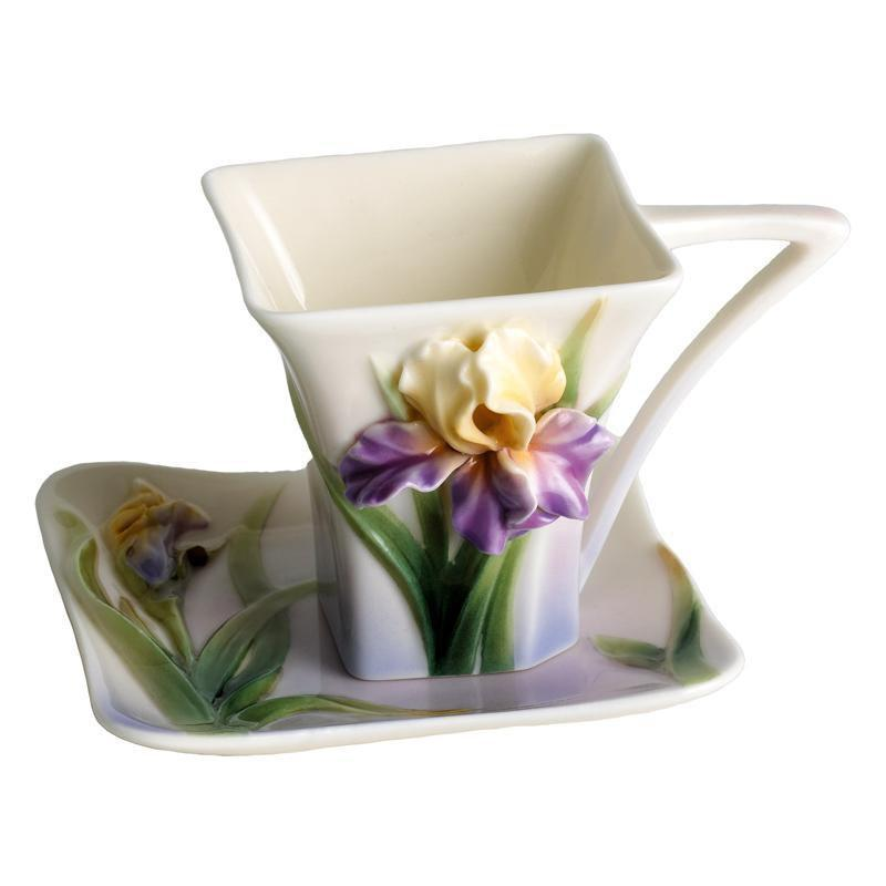 Franz Collection Iris Small Cup & Saucer FZ00819