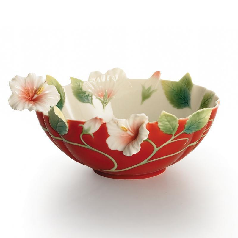 Franz Collection Island Beauty Hibiscus Bowl FZ01625