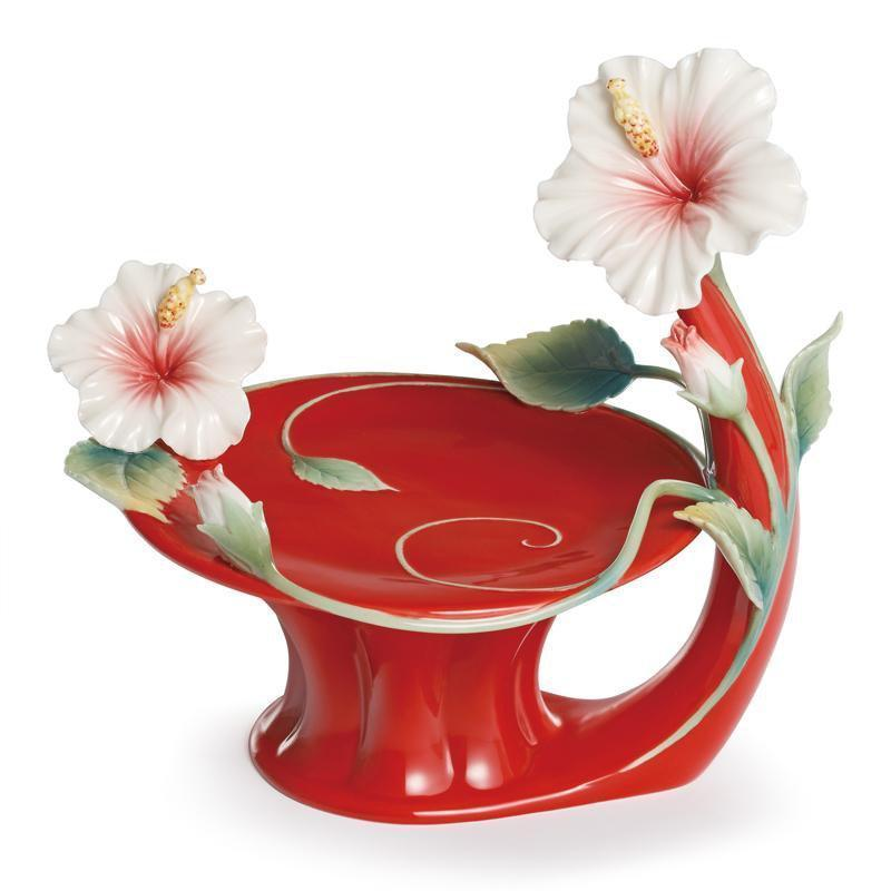 Franz Collection Island Beauty Hibiscus Candleholder FZ01624