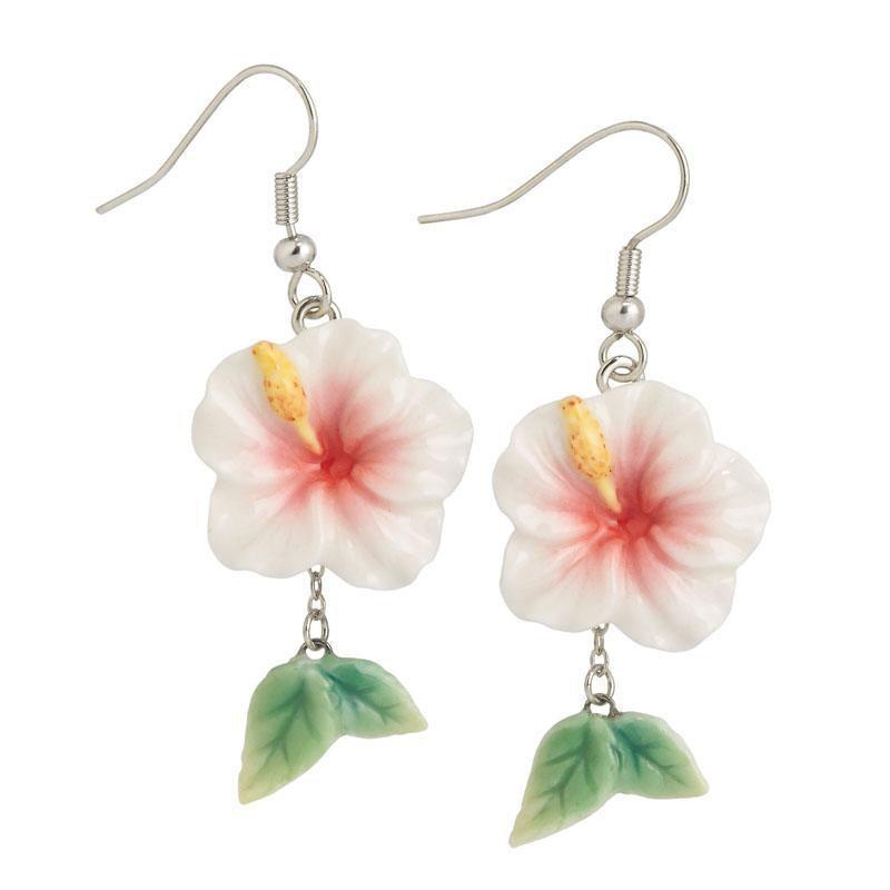 Franz Collection Island Beauty Hibiscus Earrings FJ00278