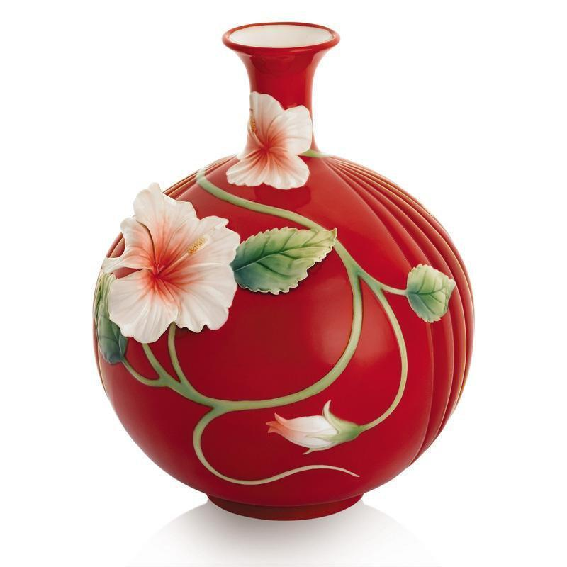 Franz Collection Island Beauty Hibiscus Flower Vase FZ01687