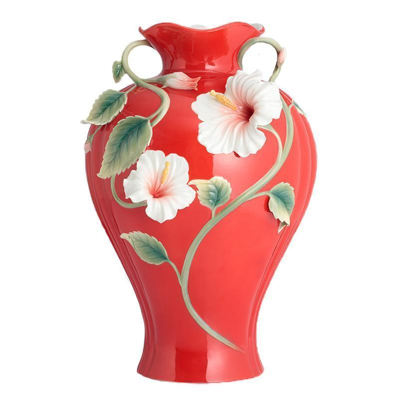 Franz Collection Island Beauty Hibiscus Vase FZ02817