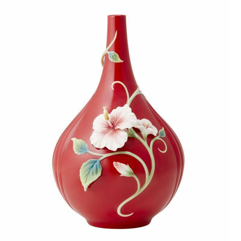 Franz Collection Island Beauty Narrow-Mouthed Hibiscus Vase FZ03730