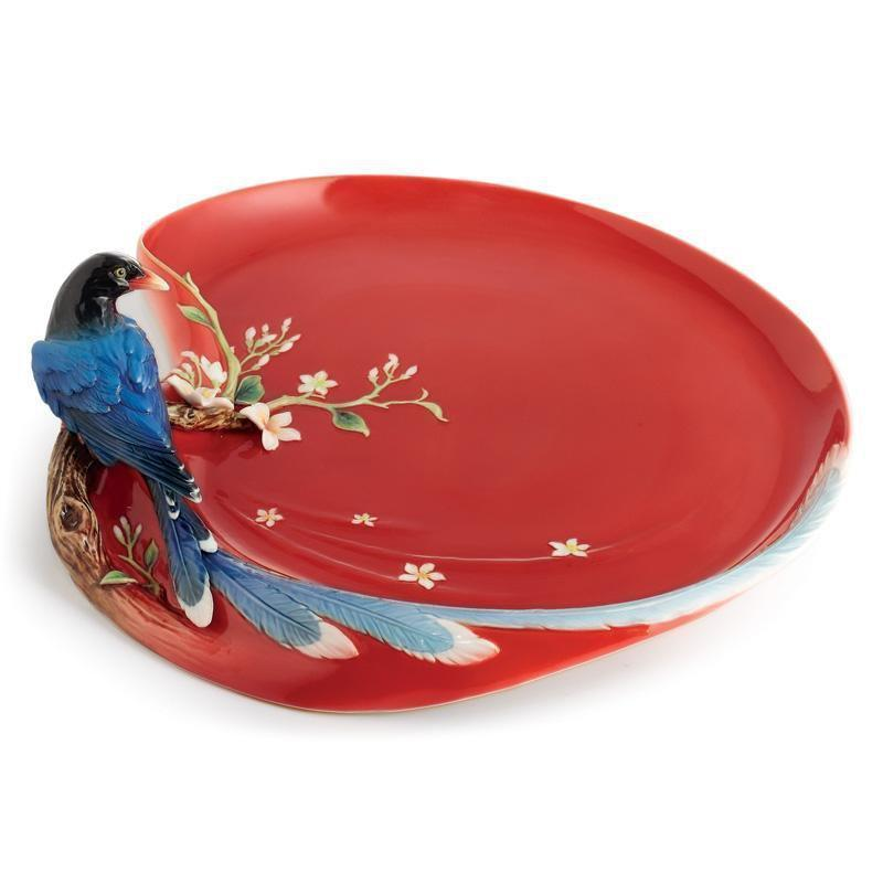 Franz Collection Joyful Magpie Large Tray FZ01757