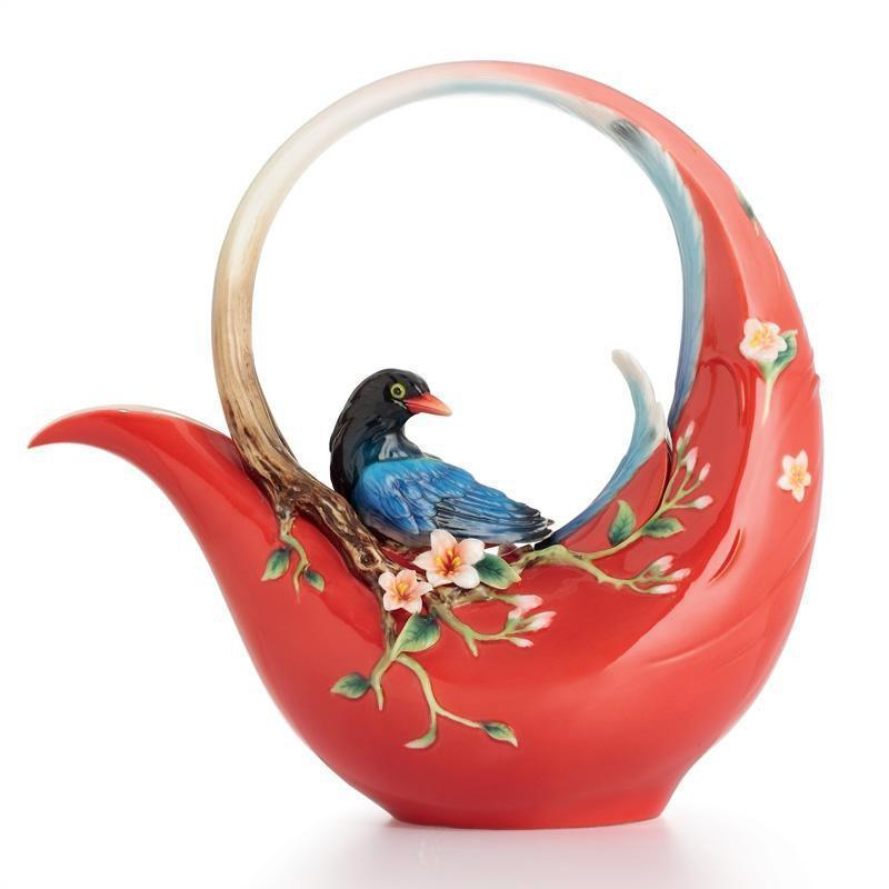 Franz Collection Joyful Magpie Teapot FZ01756