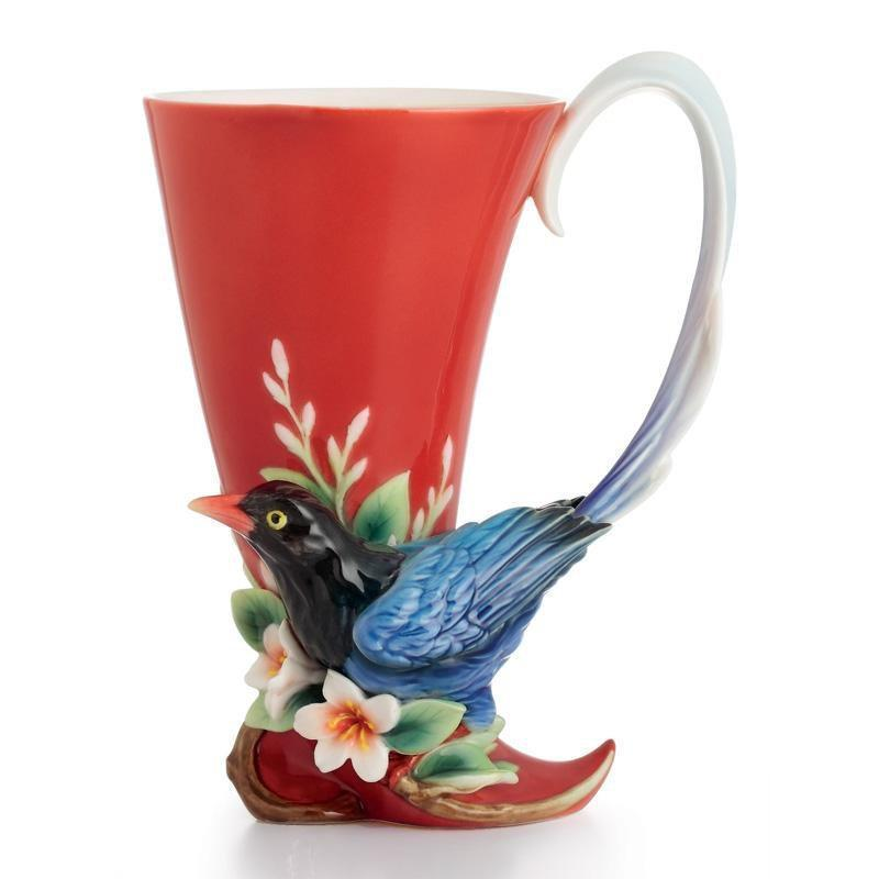 Franz Collection Joyful Magpie Vase Small FZ01758