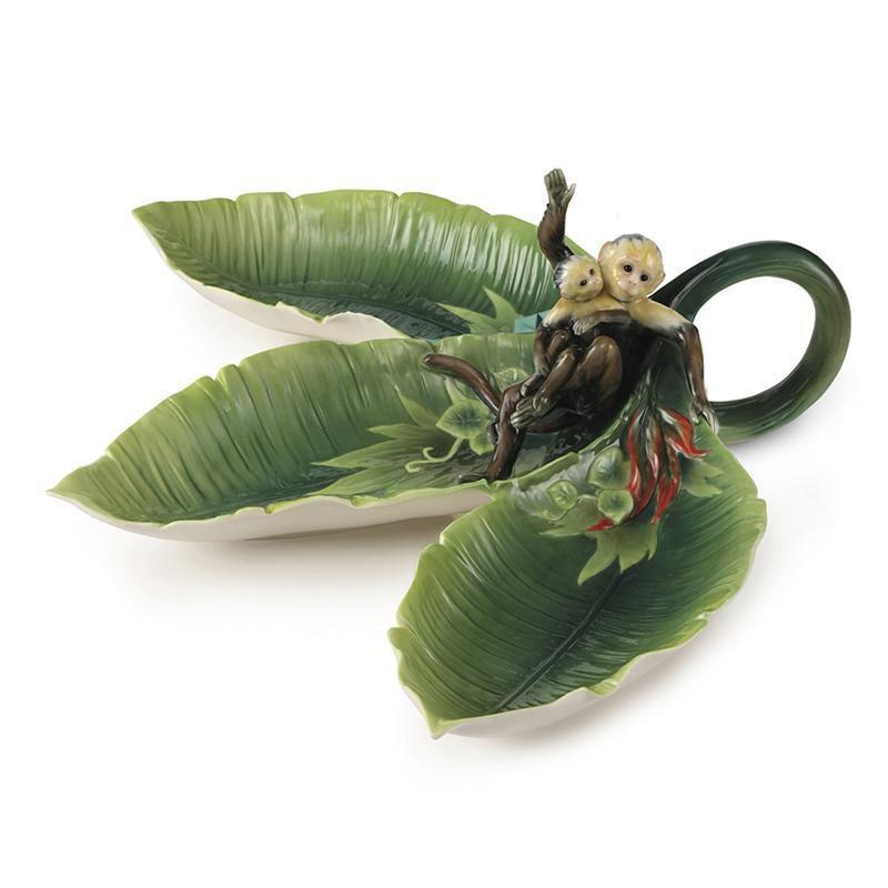 Franz Collection Jungle Fun Monkey Tidbit Dish FZ02009