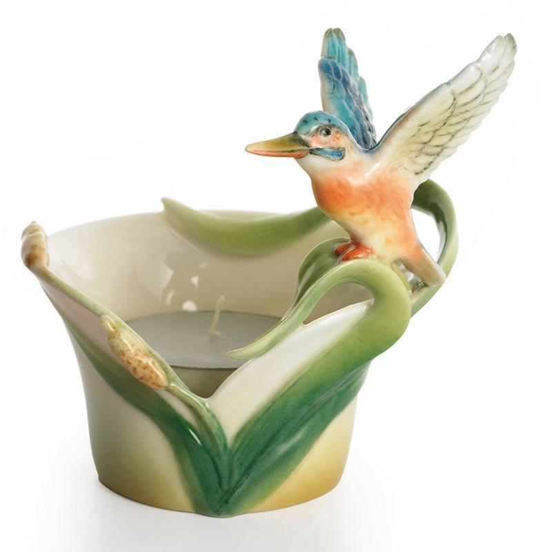 Franz Collection Kingfisher Candleholder FZ01614