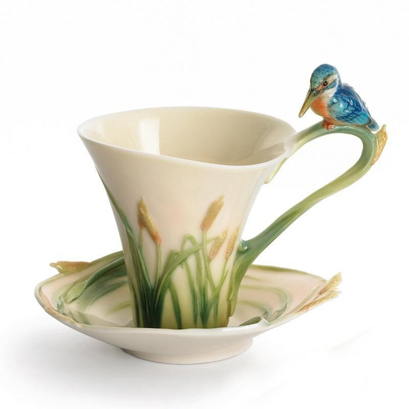Franz Collection Kingfisher Cup & Saucer FZ01182