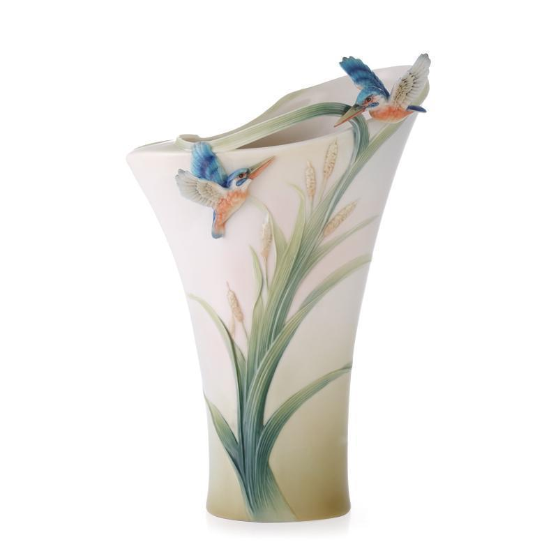 Franz Collection Kingfisher Vase FZ01190