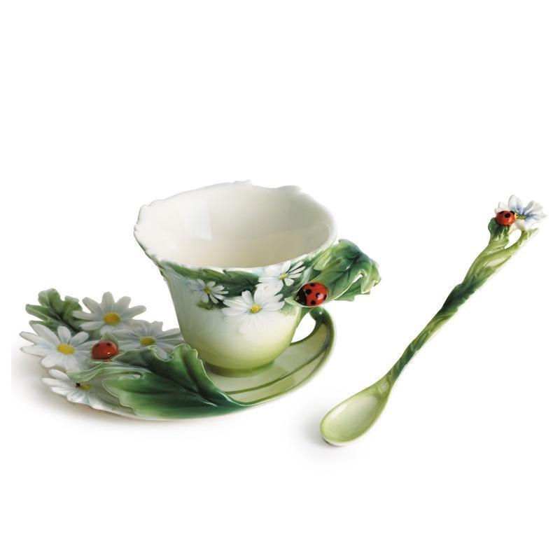 Franz Collection Ladybug Teacup & Saucer FZ00034