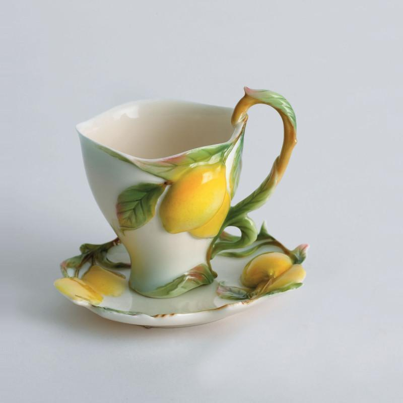 Franz Collection Lemon Cup & Saucer FZ00473