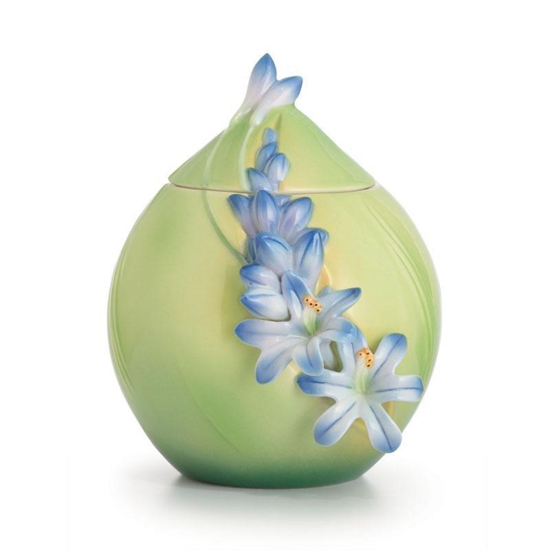 Franz Collection Lily Of The Nile Sugar Jar FZ02618