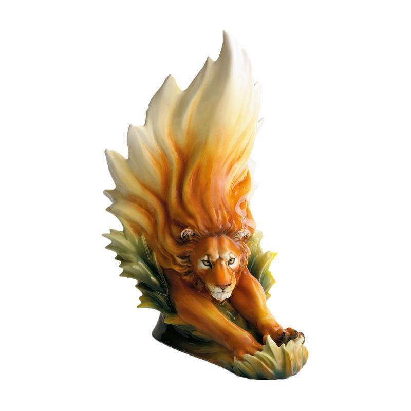 Franz Collection Lion Vase FZ00382