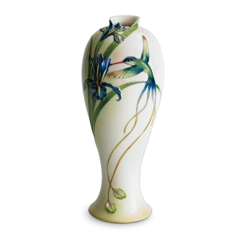 Franz Collection Long Tail Hummingbird Tall Vase FZ00127