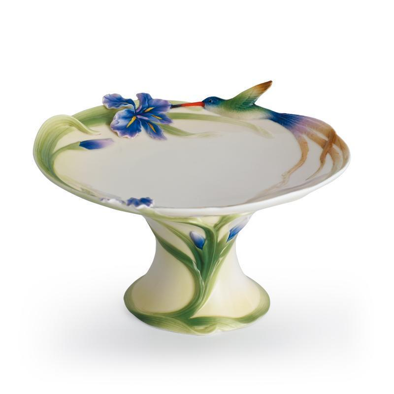 Franz Collection Longtail Hummingbird Cake Plate FZ00710