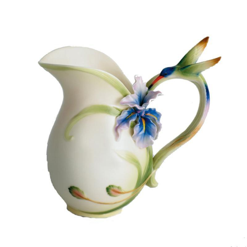 Franz Collection Longtail Hummingbird Pitcher Vase FZ00712