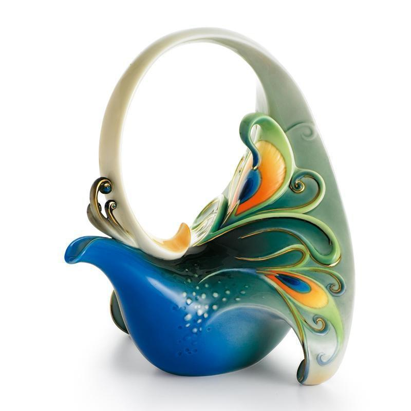 Franz Collection Luminescence Peacock Teapot FZ01209