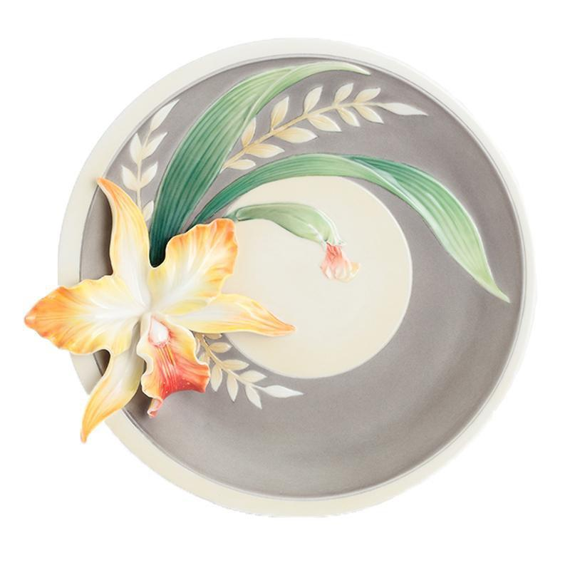 Franz Collection Magnificent Cattleya Orchid Dessert Plate FZ02879