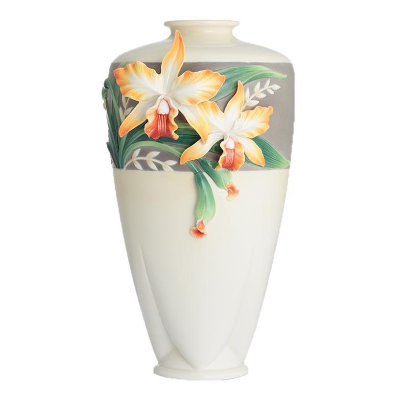 Franz Collection Magnificent Cattleya Orchid Large Vase FZ02881