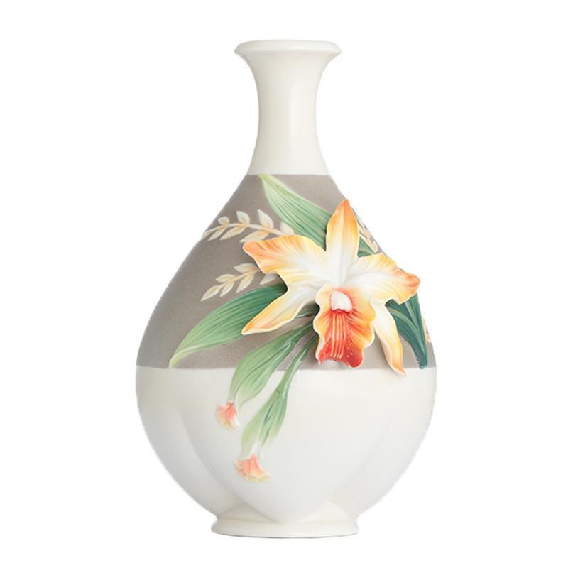 Franz Collection Magnificent Cattleya Orchid Mid Vase FZ02880