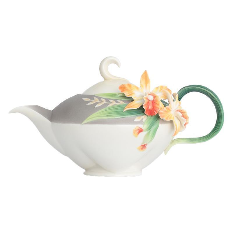 Franz Collection Magnificent Cattleya Orchid Teapot FZ02874