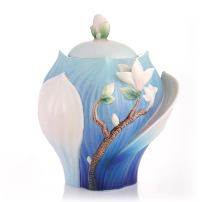 Franz Collection Magnolia Sugar Jar FZ03488