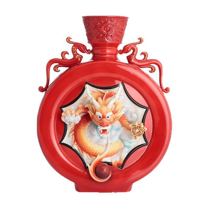 Franz Collection Majestic Red Dragon Vase FZ02827