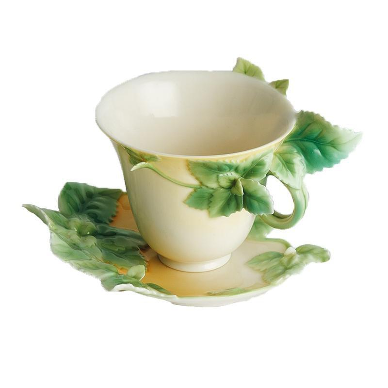 Franz Collection Mint Herb Teacup & Saucer FZ00163