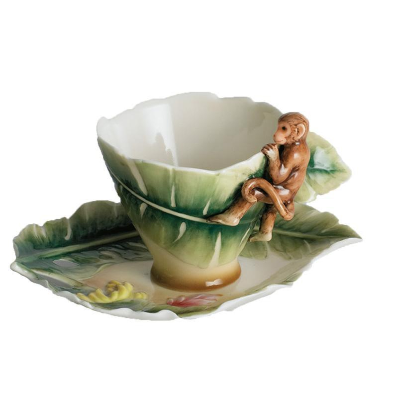 Franz Collection Monkey Cup & Saucer FZ00106